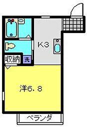 メゾン山茶花[101号室]の間取り