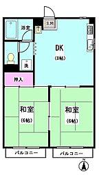 ジョイント・ファミーユB棟[305号室]の間取り