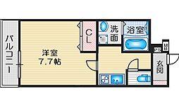 Osaka Metro御堂筋線 江坂駅 徒歩13分の賃貸アパート 1階1Kの間取り