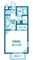 神奈川県川崎市高津区新作1丁目の賃貸アパートの間取り