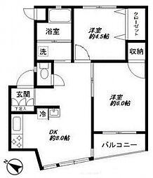 東急森アパートメント[3階]の間取り