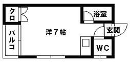 ピナクル西片江[201号室]の間取り