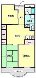 メゾン南栄[4階]の間取り
