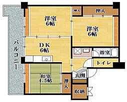ビレッジハウス小堀I[5階]の間取り