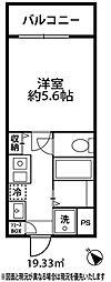 ドミール大倉山[312号室]の間取り