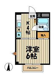 メゾン小菅ヶ谷[1階]の間取り