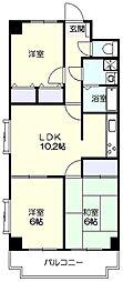 グレイスマンション[3階]の間取り