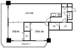 PRIME URBAN札幌リバーフロント[8階]の間取り