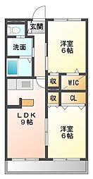 アパートメント・ながつき[3階]の間取り
