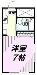 M.T小山[101号室]の間取り