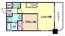 プレジオ福島[6階]の間取り