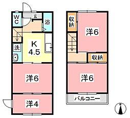[テラスハウス] 岡山県倉敷市玉島 の賃貸【/】の間取り
