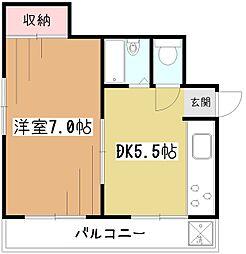 プリティハウス[2階]の間取り