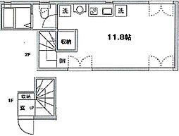 メゾンアルタイル[2階]の間取り