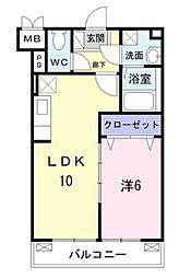 東急田園都市線 青葉台駅 徒歩29分の賃貸マンション 3階1LDKの間取り
