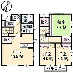[タウンハウス] 岡山県倉敷市西富井 の賃貸【/】の間取り