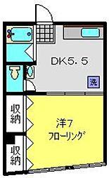 藤ビル[305号室]の間取り