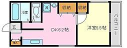 今福鶴見グリーンハイツ[1階]の間取り