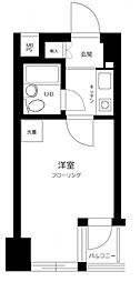 東京メトロ日比谷線 入谷駅 徒歩7分の賃貸マンション 4階1Kの間取り