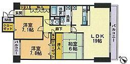 ベルメゾン赤坂フォレスト[303号室]の間取り
