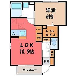 ピーノ・ロングハーモニー C[1階]の間取り