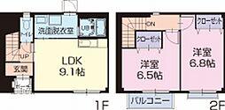 静岡県御前崎市佐倉の賃貸アパートの間取り