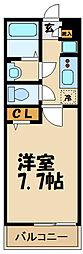 小田急小田原線 喜多見駅 徒歩9分の賃貸アパート 1階1Kの間取り