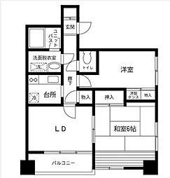 横浜反町クリーンマンション[501号室]の間取り