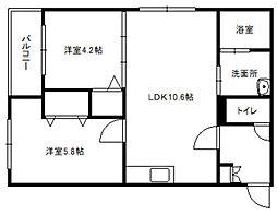 ステラ本郷Ⅱ[4階]の間取り