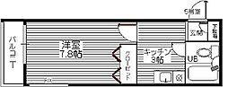 コーポプレシャス[305号室]の間取り
