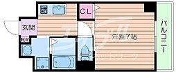 JR東海道・山陽本線 吹田駅 徒歩8分の賃貸マンション 5階1Kの間取り