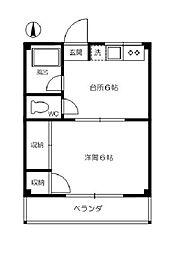 吉川ハイツ[1階]の間取り
