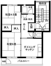 藤沢円行4号棟[432号室]の間取り