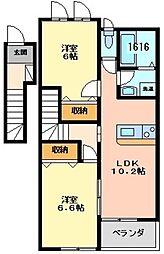 コンフォースMIYAII[2階]の間取り