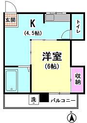 重正第一ビル[302号室]の間取り