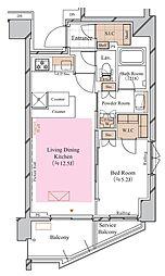 京急空港線 糀谷駅 徒歩4分の賃貸マンション 3階1LDKの間取り