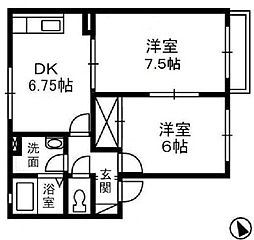 バンビーノ C棟[2階]の間取り