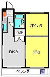 プレステージ高島台[202号室]の間取り