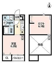 シンフォニア座間[2階]の間取り