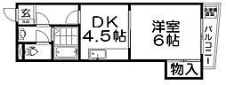 マンションハシモト[3階]の間取り