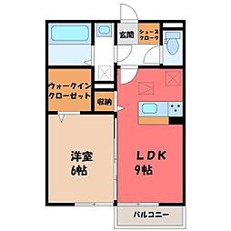 メゾン ド キャレ I 1階1LDKの間取り