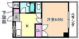 ロータリーマンション香里北之町[3階]の間取り