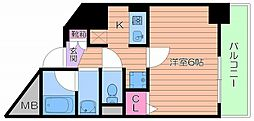 大阪府大阪市北区浮田1丁目の賃貸マンションの間取り