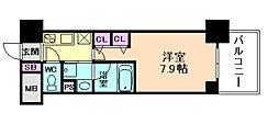 大阪府大阪市北区黒崎町の賃貸マンションの間取り