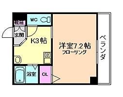 大阪府大阪市福島区福島5丁目の賃貸マンションの間取り