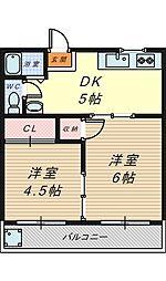 [テラスハウス] 大阪府堺市西区鳳中町10丁 の賃貸【大阪府 / 堺市西区】の間取り