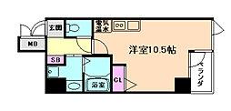 アクアプレイス梅田[4階]の間取り