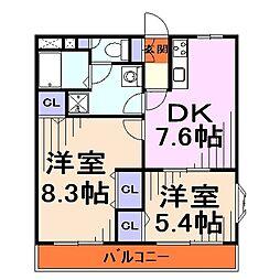 埼玉県川口市大字赤井の賃貸マンションの間取り