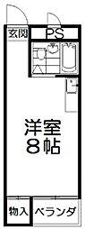 大阪府枚方市中宮東之町の賃貸アパートの間取り