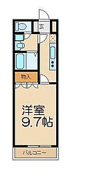 東武越生線 越生駅 徒歩13分の賃貸アパート 1階1Kの間取り